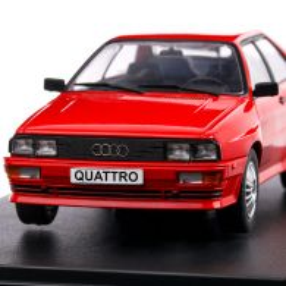Audi Quattro 1980, macheta auto, scara 1:24, rosu, White Box