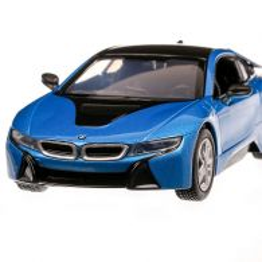 BMW i8 Coupe 2017, macheta auto, scara 1:24, albastru, MotorMax