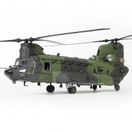 Boeing Chinook CH-147F 1991, vehicul militar scara 1:72, camuflaj negru cu verde, Forces of Valor