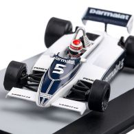 Brabham FORD BT49C 1981,  #5 Nelson Piquet P1 German GP, macheta auto scara 1:43, albastru, Atlas