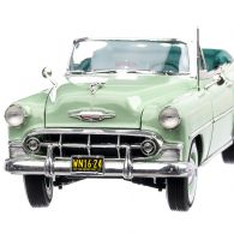Chevrolet Bel Air Convertible 1953, macheta auto, scara 1:18, verde deschis, SunStar