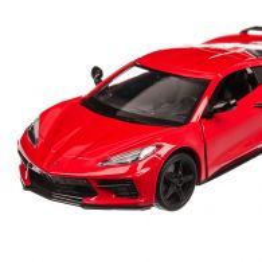 Chevrolet Corvette C8 Stingray 2020, scara 1:24, rosu, Motormax