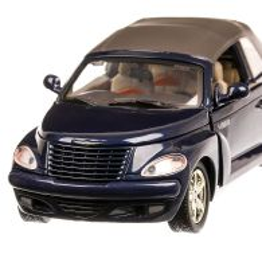 Chrysler PT Cruiser Convertible 2005, macheta  auto, scara 1:24, albastru inchis, Motormax