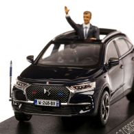 Citroen DS 7 Crossback Presidentiel 2017, macheta limuzina prezidentiala, scara 1:43, negru, Norev
