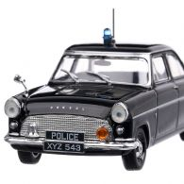 Ford Consul Mark II  Police 1956, macheta auto scara 1:43, negru, Magazine Models
