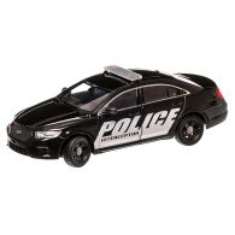 Ford Interceptor 2013, macheta auto scara 1:24, negru, Welly