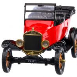 Ford Model T Touring Cabriolet 1925, macheta auto scara 1:24, visiniu cu negru, MotorMax