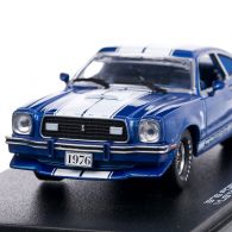 Ford Mustang Cobra II 1976, macheta auto, scara 1:43, albastru, GreenLight