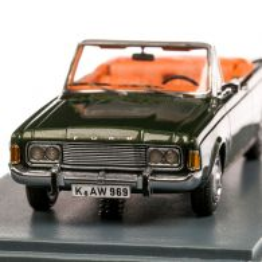 Ford Taunus (P7b) 26M Convertible 1970, macheta auto, scara 1:43, verde metalizat, Neo