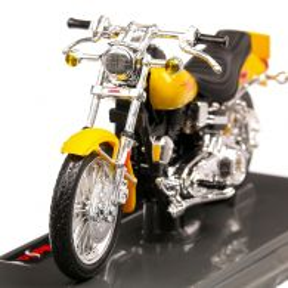 Harley-Davidson FXS Low Rider 1977, macheta motocicleta, scara 1:18, galben, Maisto