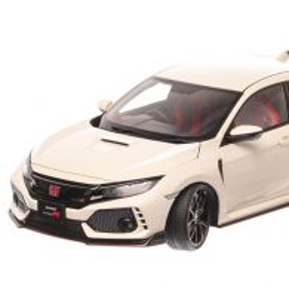 Honda Civic Type R FK8 2017, macheta auto scara 1:18, alb, window box, AUTOart