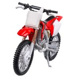 Honda CRF 450R 2014, macheta motocicleta, scara 1:18, rosu cu alb, Bburago