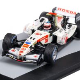 Honda RA106 #11 R Barrichello P7 Italia GP 2006, macheta auto scara 1:43, alb cu rosu, Atlas