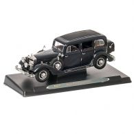 Horch 851 Pullman 1935, macheta auto scara 1:18, negru, window box, Ricko