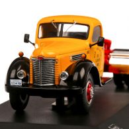 Ihc Series KB 7 1948, macheta camion, scara 1:43, galben cu rosu, IXO