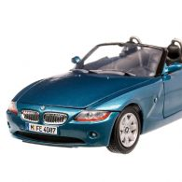 BMW Z4 (E85) 2008, macheta auto scara 1:24, albastru metalizat, Motor Max