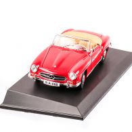 Mercedes-Benz 190SL Cabriolet 1955, macheta auto scara 1:18, rosu, window box, Maisto