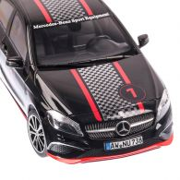Mercedes-Benz A-Klasse Sport 2013, macheta auto scara 1:18, negru racing, window box, Norev