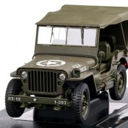 Jeep Willys 1943, macheta suv militar,  scara 1:18, vernil, Welly