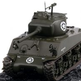 M4 Sherman M4A3 1945, macheta vehicul militar, scara 1:72, verde, Magazine Models