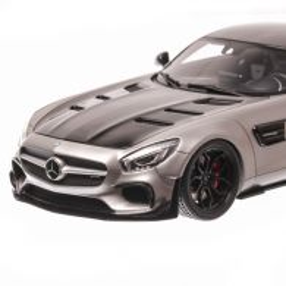 Mercedes-Benz  AMG GT 2017, macheta auto scara 1:18, gri metalizat, GT-Spirit
