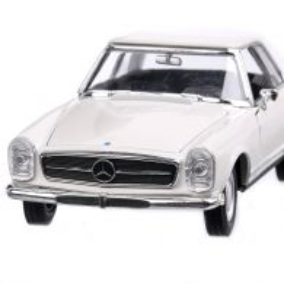 Mercedes-Benz 230 SL (W113) 1963, macheta auto, scara 1:24, alb, Welly