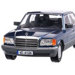 Mercedes Benz 560 SEL S-class (W126) 1985, macheta auto, scara 1:18, bleu, iScale