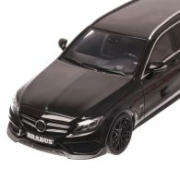Mercedes-Benz C-Class Model T Brabus B25 2016, macheta auto scara 1:18, negru, GT-Spirit