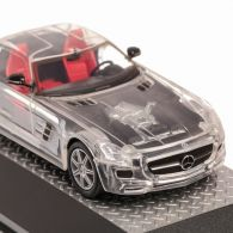 Mercedes-Benz SLS AMG 2010, macheta auto, scara 1:43, transparent, Atlas