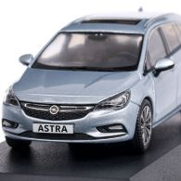 Opel Astra K Sports Tourer 2016, macheta auto,  scara 1:43, bleu, iScale