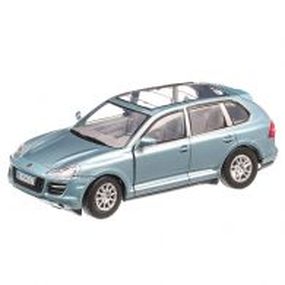 Porsche Cayenne Turbo 9PA 2010, macheta SUV, scara 1:24, bleu metalizat, window box, Motormax