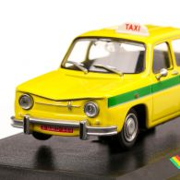 Renault 8 Bamako Taxi 1970, macheta Taxi scara 1:43, galben cu verde, Atlas