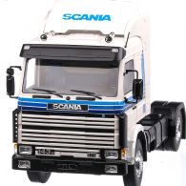 Scania 143M 470 Topline Truck 1987, macheta auto scara 1:18, alb cu bleu, MCG