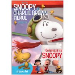Snoopy si Charlie Brown - Carte de colorat