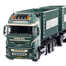 Volvo FH4 Globetrotter XL 8X4 2020, macheta camion cu remorca, scara 1:50, verde, Tekno
