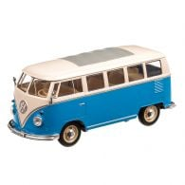 VW T1 Bus 1963, scara 1:24, bleu cu alb, Welly
