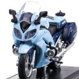 Yamaha FJR 1300A Politia SUA 2018, macheta motocicleta, scara 1:18, alb cu albastru, Maisto