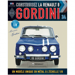 Macheta Renault R8 GORDINI EAGLEMOSS scara 1:8  nr.34 - kit construibil