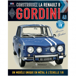 Macheta Renault R8 GORDINI EAGLEMOSS scara 1:8  nr.43 - kit construibil