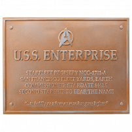 Placa dedicata navei spatiale U.S.S. Enterprise NCC-1701-A