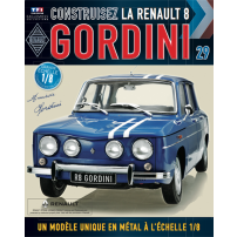 Macheta Renault R8 GORDINI EAGLEMOSS scara 1:8  nr.29 - kit construibil