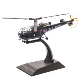 Elicopter Aerospatiale SA319 Alouette III France 1960, albastru, macheta elicopter scara 1:72, Atlas