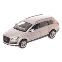 Audi Q7 (4L) 2007, macheta auto, scara 1:24, argintiu, window box, Welly