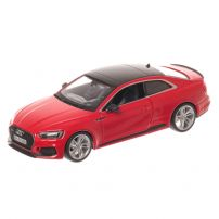 Audi RS 5, macheta auto scara 1:24, rosu, window box, Bburago