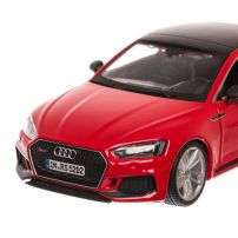 Audi RS 5, macheta auto scara 1:24, rosu, window box, Bburago