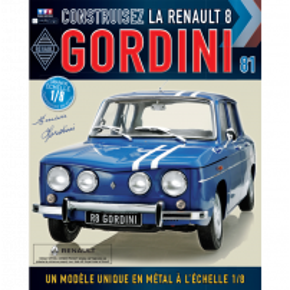 Macheta Renault R8 GORDINI EAGLEMOSS scara 1:8  nr.81 - kit construibil