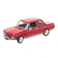 BMW 2002 Ti 1974, macheta auto scara 1:24, rosu, window box, Welly
