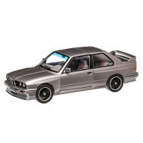 BMW E30 M3 1990, macheta auto scara 1:18, argintiu metalizat, window box, Solido