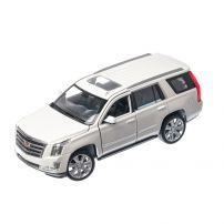 Cadillac Escalade 2017, macheta auto SUV scara 1:24, alb, Window box, Welly