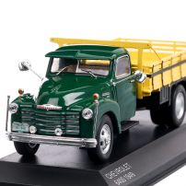 Chevrolet 6400 1949, macheta autocamioneta scara 1:43, galben cu verde, White Box